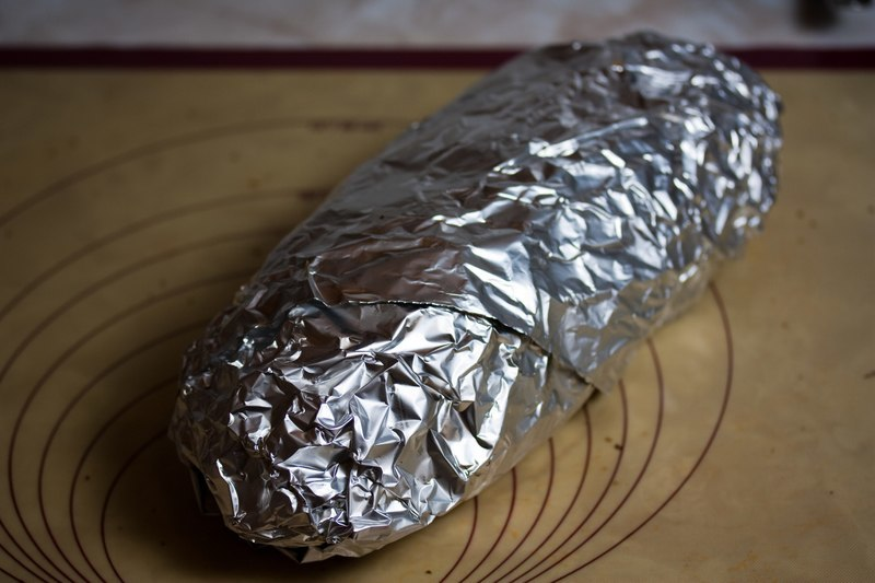 Wrap the wheat stuffed seitan in tin foil before baking