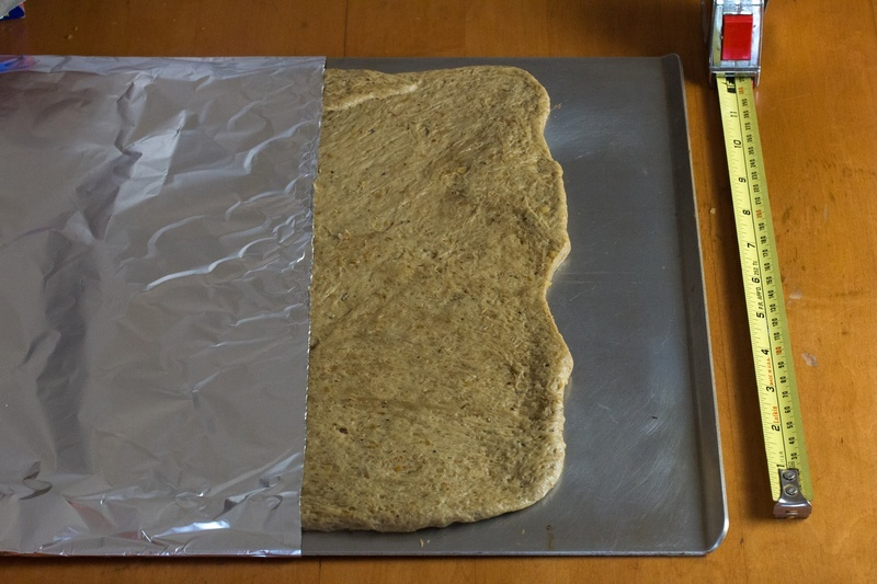 Cover the wheat gluten with tin foil and bake